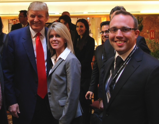 Donald Trump and Simon Hedley at Trump Tower
